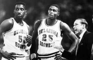 Tony Martin and Harvey Grant get instruction from Coach Tubbs