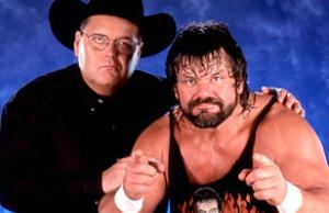 "Oklahoman J.R. Ross, pro wrestling announcer, with Steve ""Dr. Death"" Williams"