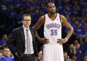 Coach Scott Brooks and his MVP must figure it out before Wednesday night